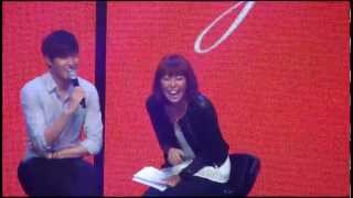 [fancam] 121116 LMH Bench funmeet - Minho playing with fans' screams