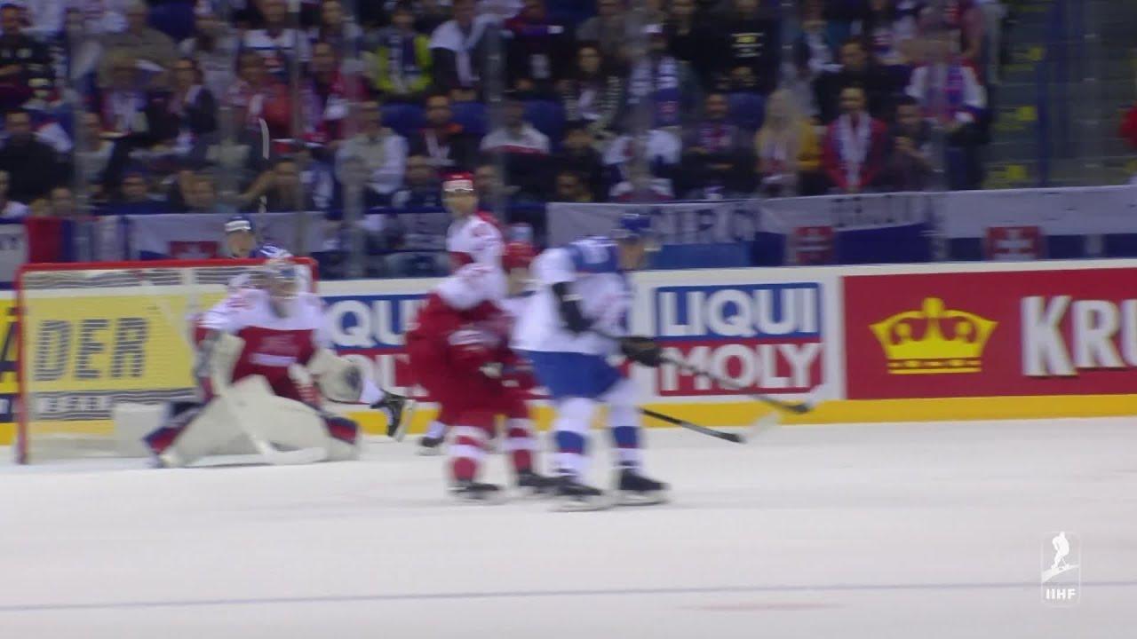 8101dd15a8860 Video: Slovensko v poslednom zápase na MS v hokeji 2019 zdolalo Dánsko,  rozhodli samostatné nájazdy. Nagy sa rozlúčil víťazným nájazdom - 24hod.sk