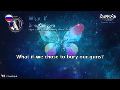 "Dina Garipova - ""What If"" (Russia) - Karaoke version"