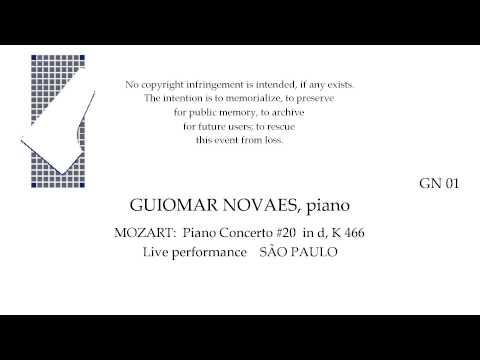 MOZART Concerto #20 in d, K 466   Guiomar Novaes, piano  SAO PAULO