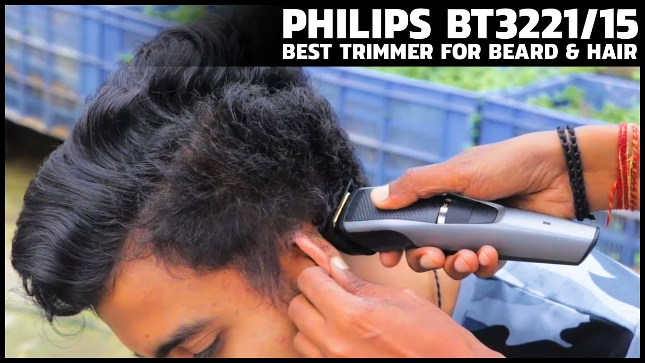 Best trimmer for hair cutting and beard  PHILIPS BT12 Hair Trimming Test  and Review