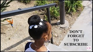QUICK & EASY||  DIY SOCK BUN: TODDLER NATURAL HAIR