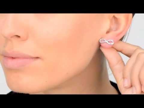 Lia S Infinity Charm Stud Earrings Silver