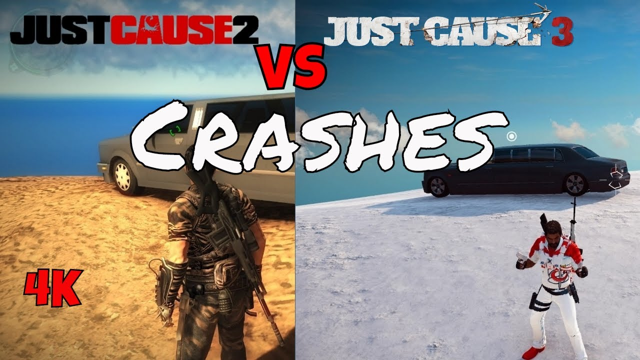 Just Cause 2 VS Just Cause 3 Crashes - YouTube