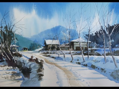 let's draw a landscape of snow/ choe SSi art studio/최병화수채화水彩