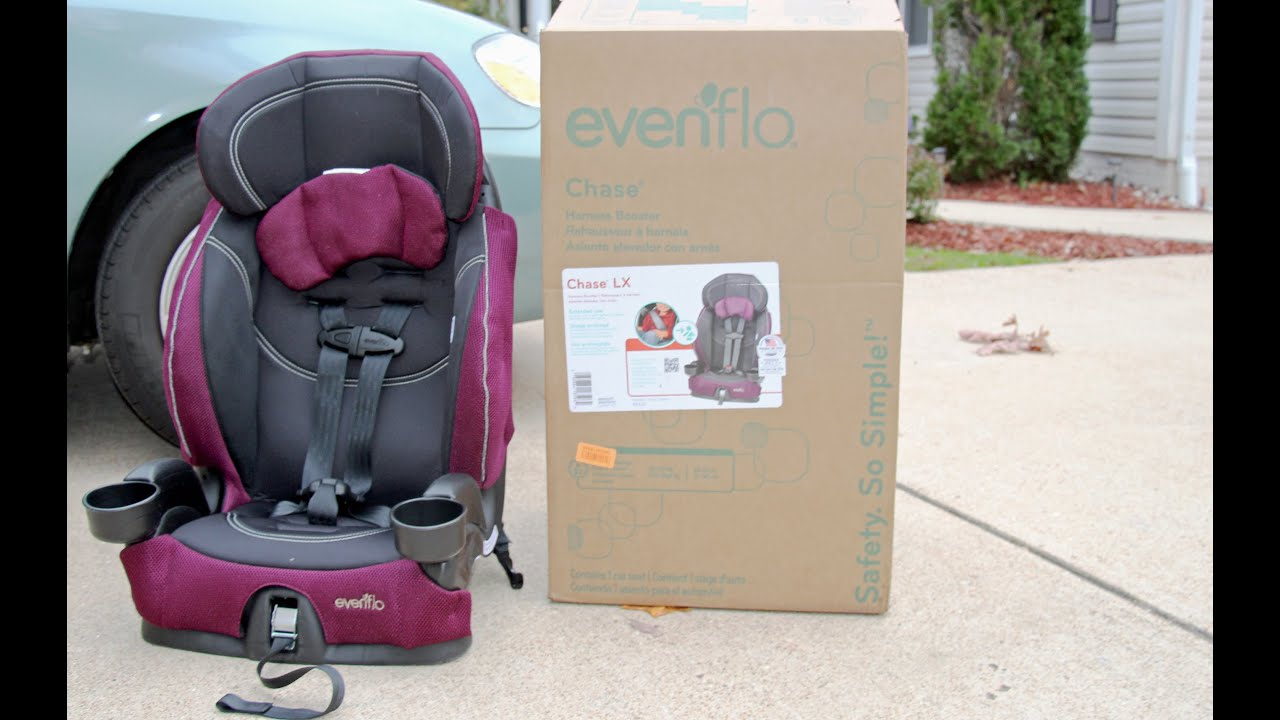evenflo chase lx harnessed booster car seat review reese youtube. Black Bedroom Furniture Sets. Home Design Ideas