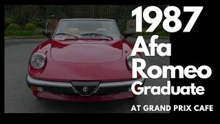 1987 Alfa Romeo Graduate at Grand Prix Cafe