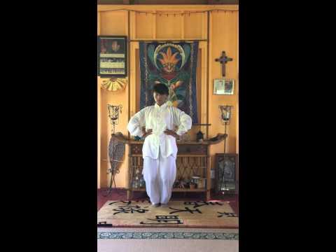 Kokolulu Farm - Master Bu  Xiaojing Demonstrates Body Mind Level 2 Zhineng QiGong