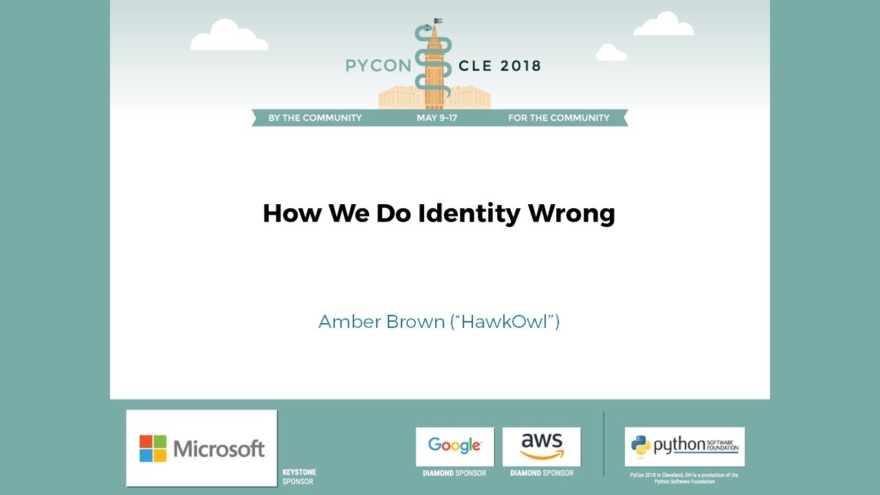 Image from How We Do Identity Wrong