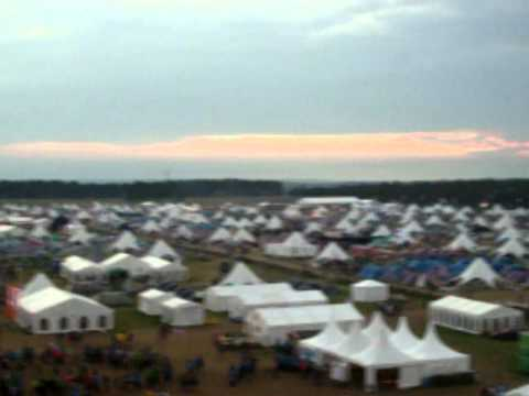 World Scout Jamboree 2011 Sweden - The Jamboree area from the watchtower.