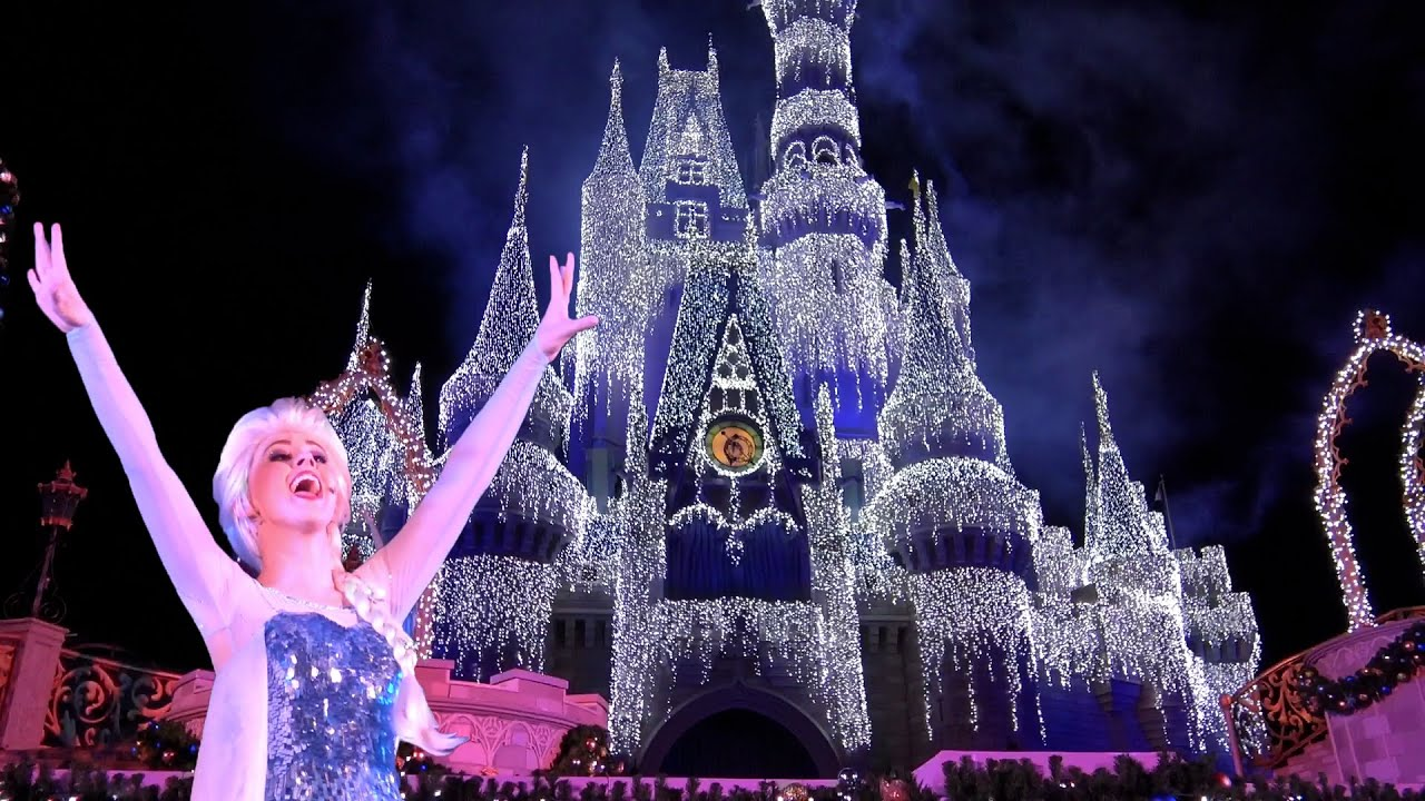 A Frozen Holiday Wish Magic Kingdom Holiday Castle