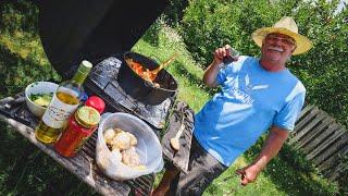Celebrando el 9 DE JULIO: Feliz día ARGENTINA🇦🇷 + Cocinando POLLO A LA COLONIAL en un Horno Holandés
