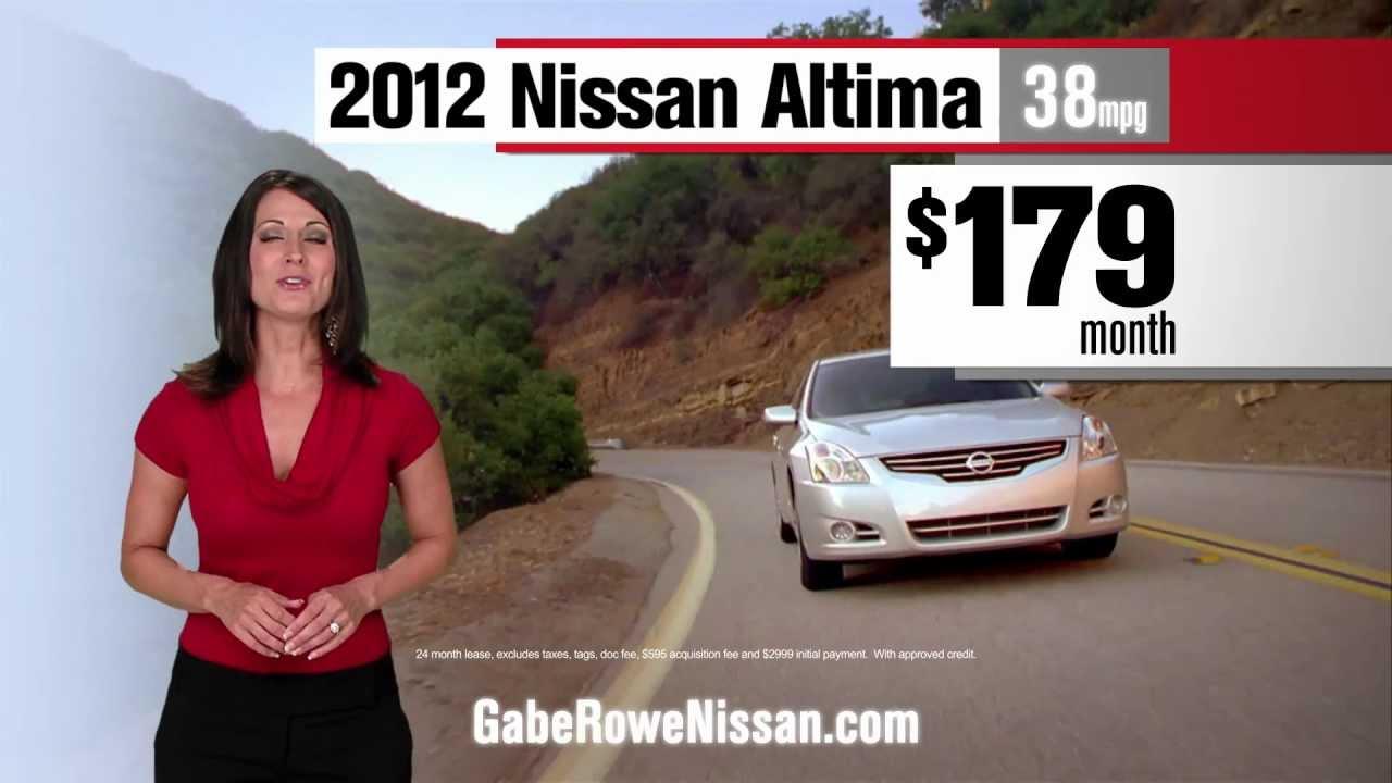 Gabe Rowe Nissan - Savings-Altima - YouTube