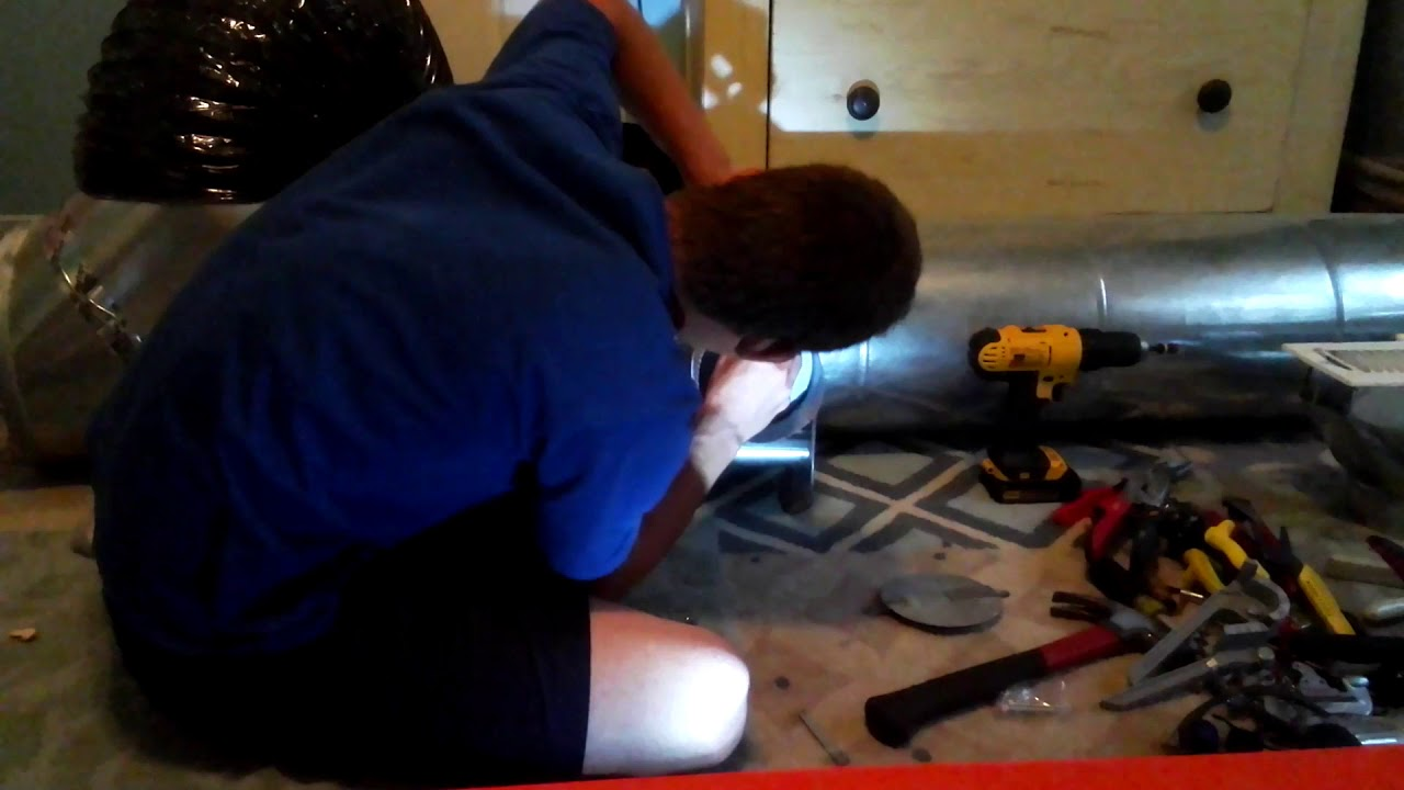 How to install and adjust a manual damper for HVAC ductwork