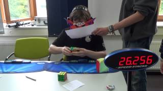 Maskow: World Record Rubik's Cube blindfolded, average 25.45