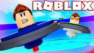 I BECOME A BEYBLADE IN ROBLOX !! EPIC BATTLES