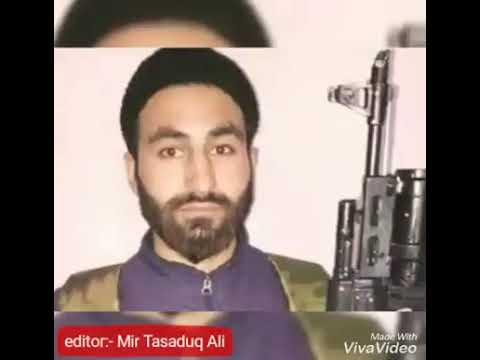 Tribute to slain militant DR MANAN WANI    aay rahe haq ke shaheedo