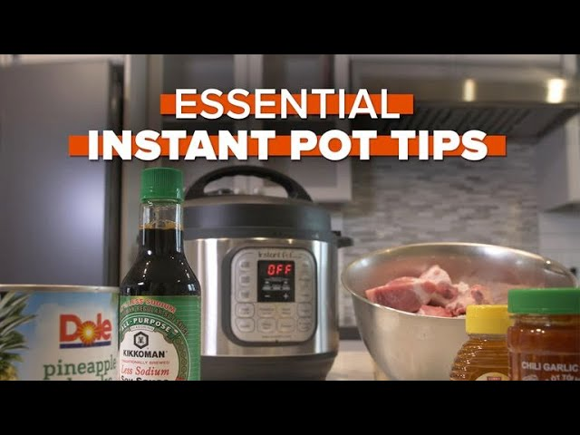 Essential Instant Pot Tips
