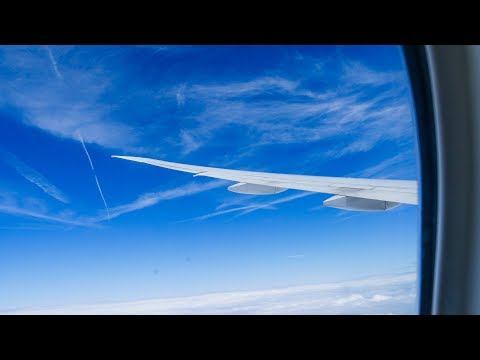 Nearly full flight video, London Heathrow to Tokyo Haneda, B777-300ER, British Airways