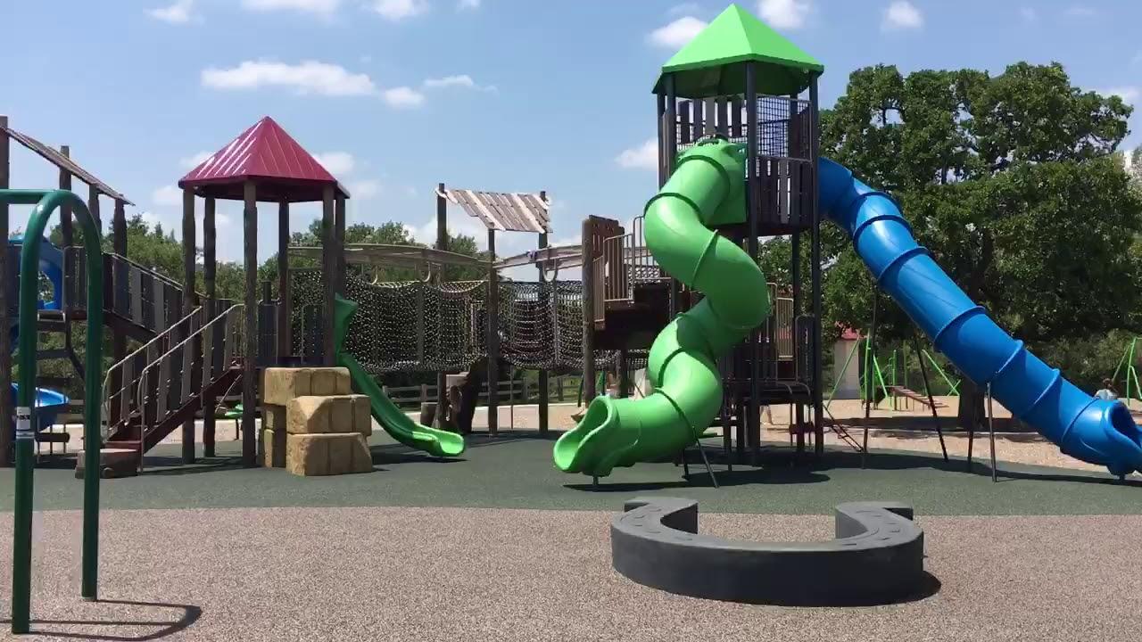 Garey Park Kids Play Area Georgetown, Texas - YouTube