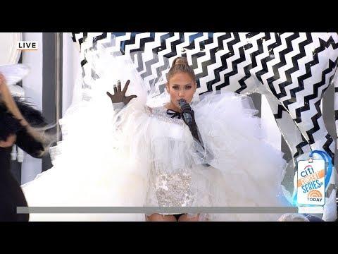 """Jennifer Lopez """"Medicine"""" Live Performance On The Today Show Plaza"""