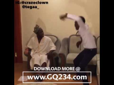 Download www GQ234 com comedy video CRAZECLOWN FT  TEGAA THE SLAP OF THE HOLY GHOST