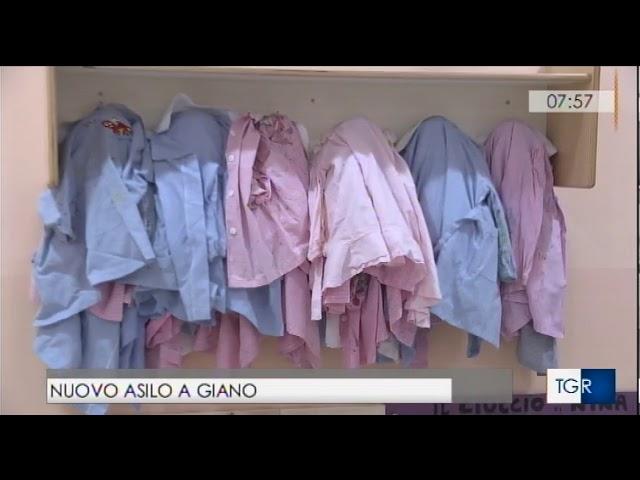 Inaugurazione asilo nido Giano dell'Umbria Buongiorno Regione TGR Umbria