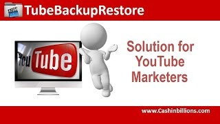 Tube Backup Restore Review Demo | How To Backup Your YouTube Channels YouTube Downloads Video