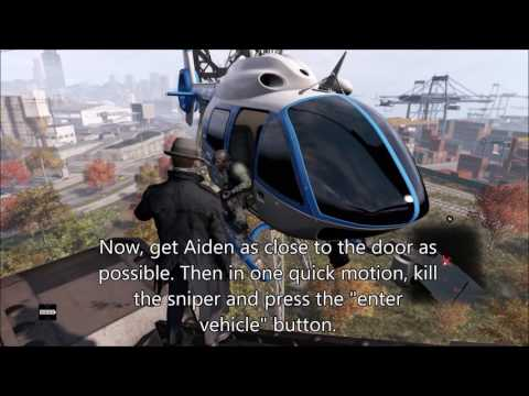 Watch Dogs 1: How to Hijack a Police Helicopter!