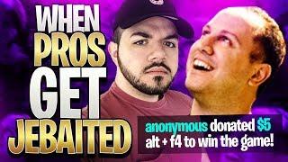 Fortnite - When Pros Get Jebaited (funny fortnite moments)