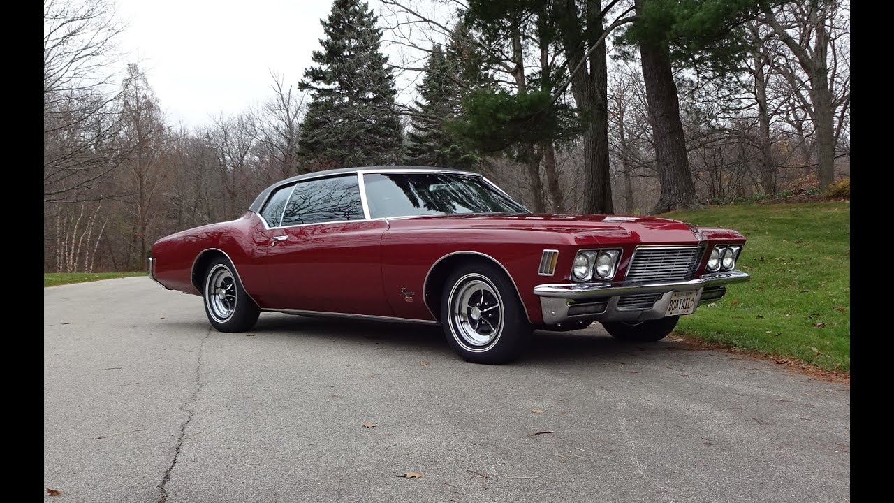 1971 buick riviera gs gran sport in vintage red 455 engine sound my car story with lou. Black Bedroom Furniture Sets. Home Design Ideas