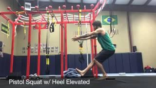 Bodyweight Single Leg Squat Progression