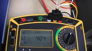 Test de l'ordre des phases de l'alimentation des diverses moteurs a...