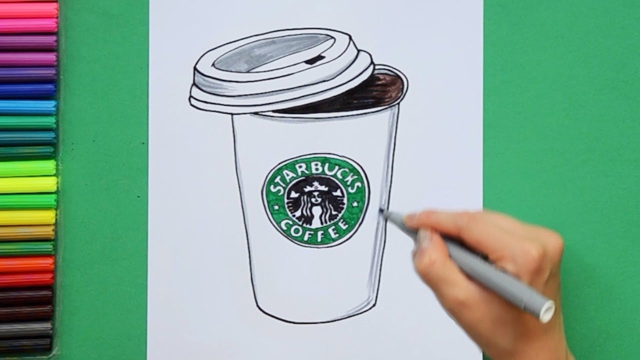 How To Draw A Starbucks Coffee Cup