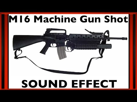 M16 Machine Gun Shot Sound Effect | Sfx | HD