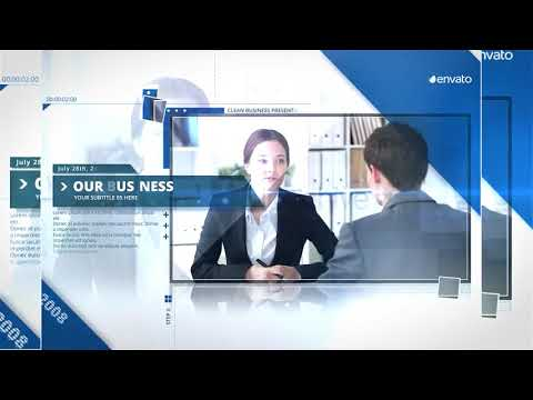 clean presentation - business company-after effects template, Presentation templates