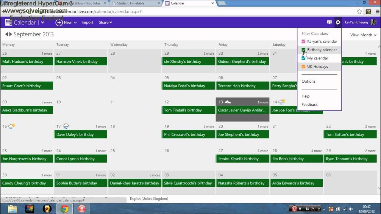 Birthday Calendar In Outlook : How to remove birthdays on your outlook calendar