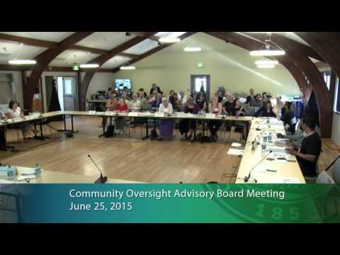 Community Oversight Advisory Board Meeting 06/25/15 part 1 - YouTube
