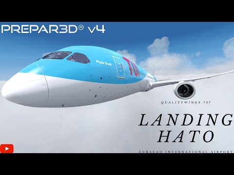 Qualitywings 787 Landing in Curacao P3Dv4