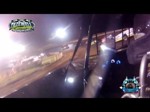 #44 Chris Madden - WoO Super Late Model - 6-2-17 Tazewell Speedway - In-Car Camera