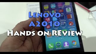 Lenovo A2010 Hands on Review, Camera, Features and India Price