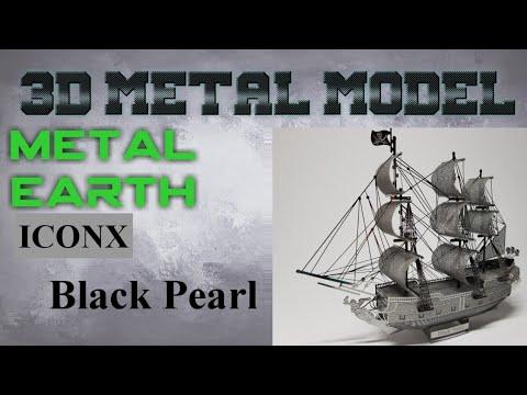 Metal Earth ICONX Build - Black Pearl