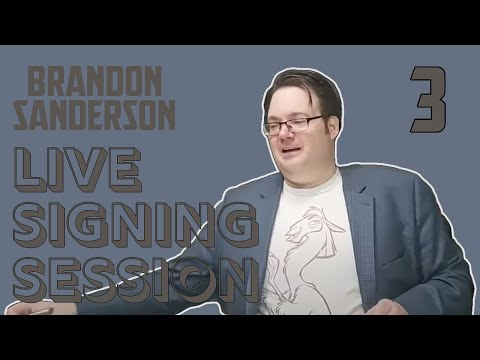 Brandon Sanderson Live Signing Session #3 - The Way Of Kings