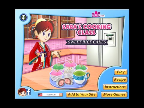 How to play Sara's Cooking Class Sweet Rice Cakes Game Full Episode Kid's Gameplay