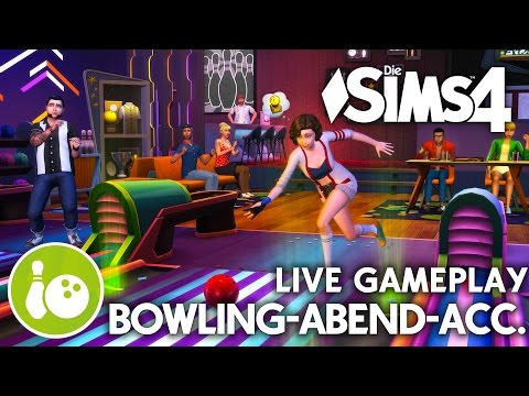 LIVE Gameplay, CAS & Objekte | Die Sims 4 Bowling-Abend Accessoires-Pack Preview