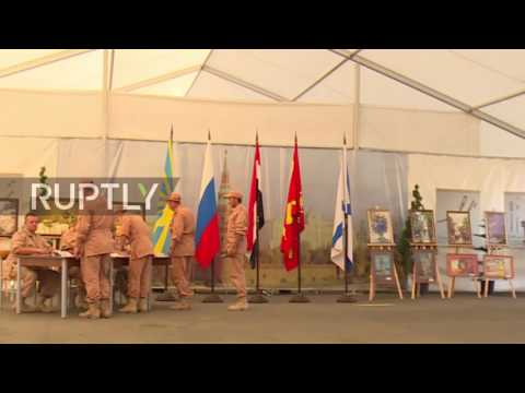 Syria: Russian servicemen vote in parliamentary elections