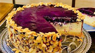 Бархатный Творожный Торт с Голубикой или ЧИЗКЕЙК с ГОЛУБИКОЙ от Элины