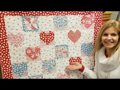 """Donna's SWEET """"Hearts and Pinwheels"""" FREE PATTERN Quilt tutorial!"""