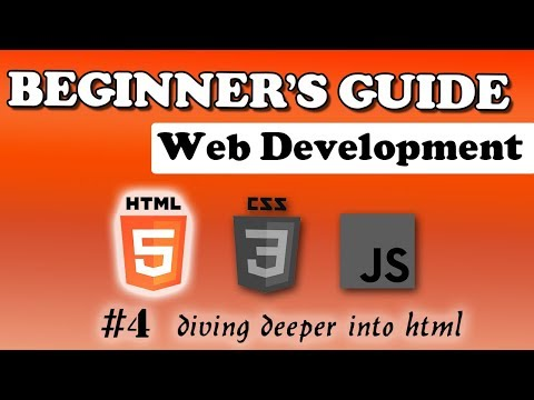 HTML Course - Diving Deeper Into HTML | Beginner's Tutorial | #4