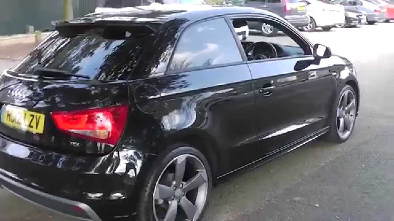 audi a1 2 0tdi s line black edition - youtube